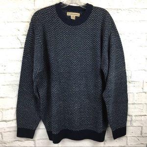 Munsingwear M herringbone knit sweater men's